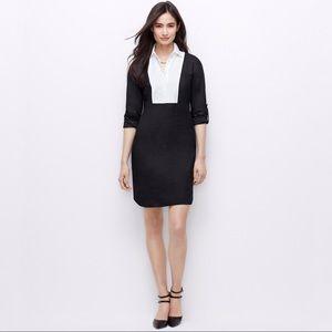 ❣️ANN TAYLOR Petite Colorblock Bib Shirtdress